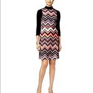 ECI New York Womens Layered Chevron Dress - XL